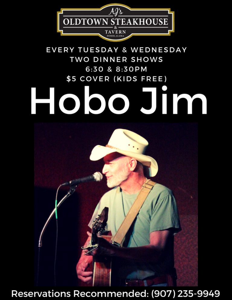 Hobo Jim dinner show flyer
