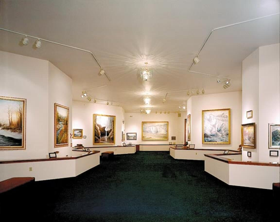 interior of Alaska art gallery