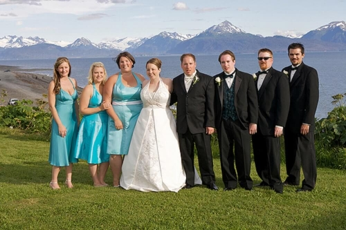 wedding with mountains
