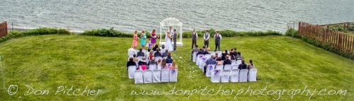 wedding over the bay