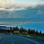 View of Baycrest Hill coming into Homer, AK.