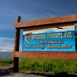 Welcome to Anchor Point, AK, sign.