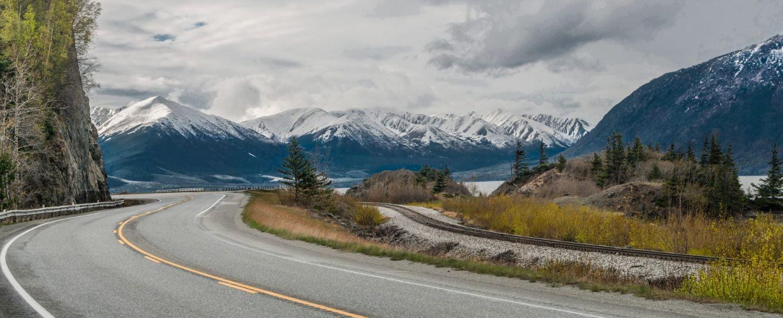 Scenic road in Alaska.