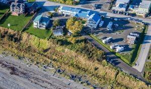 Aerial photo of Driftwood Inn.