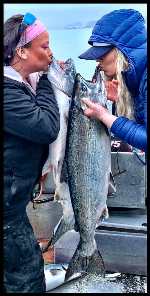 Kissing King Salmon
