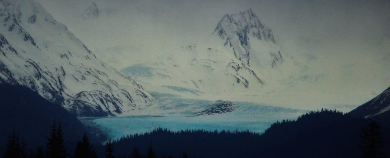 View of GrewingkGlacier by Russell Campbell.