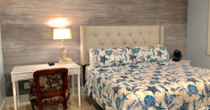 Interior view of bedroom in Carriage House.