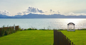 View of the bay from of Kachemak Cottage.