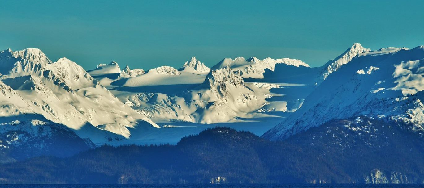 View of mountains in Alaska